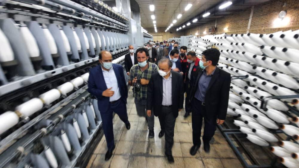 افتتاح طرح توسعه صنایع سلماس نسج توسط وزیر صمت