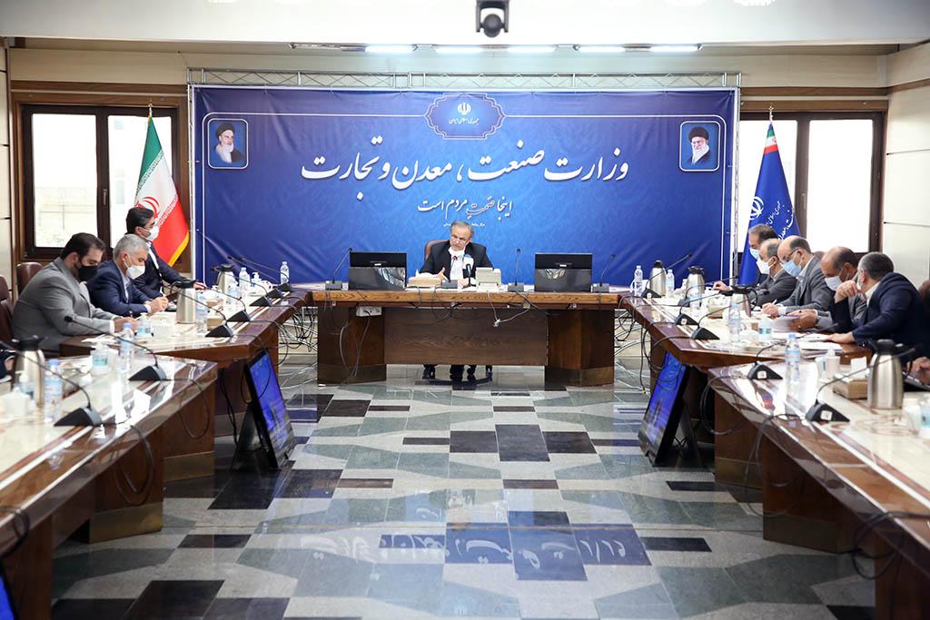 جلسه وزیر صمت با مدیران شرکت های بزرگ فولادی